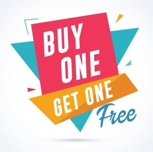 All Items Buy One Get One Free🎉